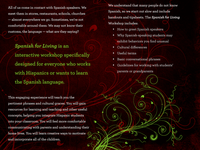 Old Spanish for Living Brochure B