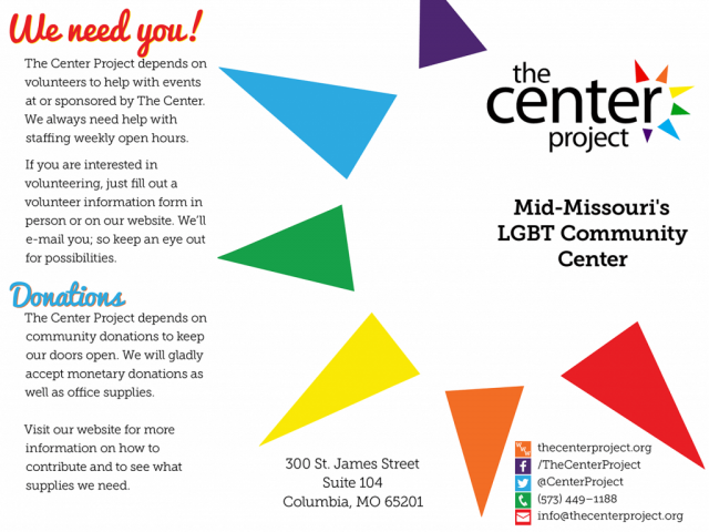 The Center Project Brochure Outside