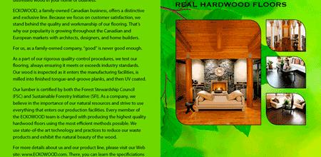 ECKOWOOD Flooring Brochure Copy